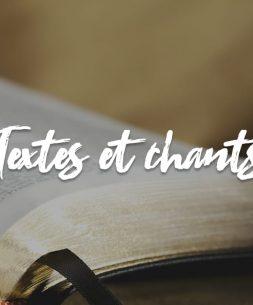 textes et chants messe